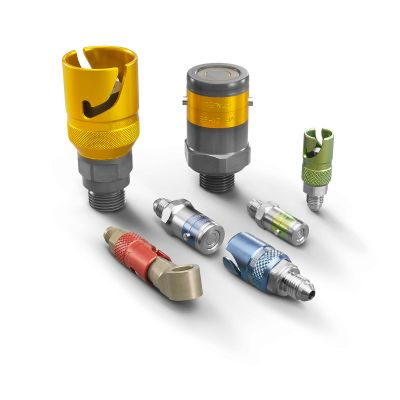 Stäubli Quick Release Dry Break Coupling 3mm Flow Diameter (-3 JIC, -4 JIC and M10)